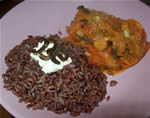 Pepper casserole with red rice and Pasilla Bajio