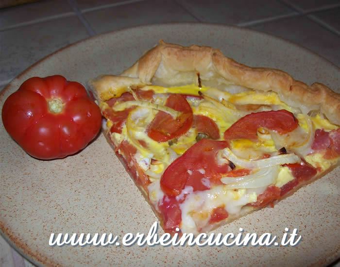 Tomato savory tart with oregano