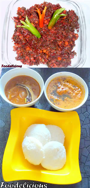 Sambar with Onion and Tomato Chutney - Lal Math Bhaaji