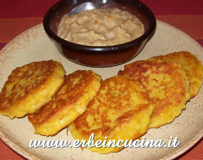 Corn Patties with Coconut Sauce