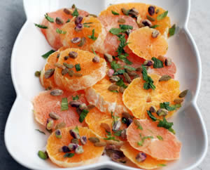 Citrus Salad with a Cinnamon Yogurt Dressing