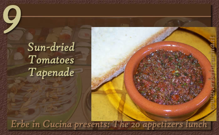 Sun-dried tomatoes tapenade