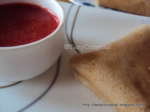 Vegan Buckwheat Crepes with Strawberry Coulis