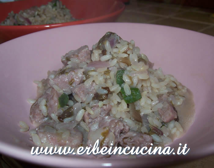 Red Chicory Risotto with Sage