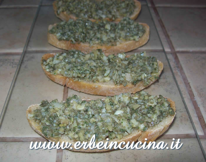 Sage and Mint Bruschetta