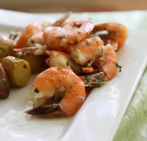 Roasted Shrimp with Lemon Thyme