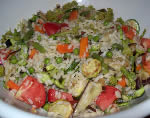 Rice salad with fried vgetables