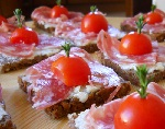Danish canapes with thyme