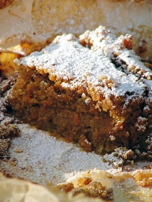 Carrot cake with nutmeg