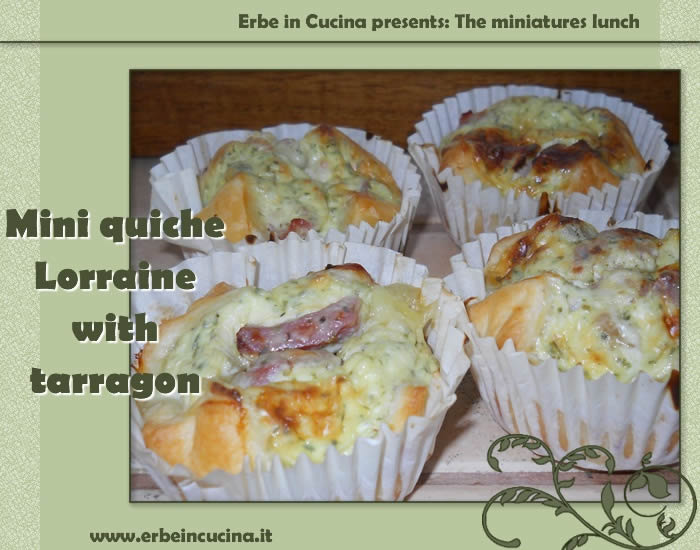 Mini quiche Lorraine with tarragon