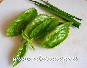 Basil and chives garlig