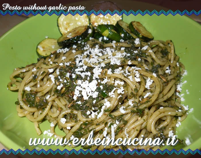 Pesto without garlic pasta