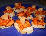 Pumpkin, amaretti and aage appetizers