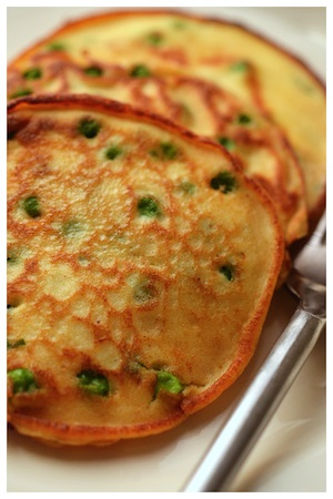 Pea and Ricotta Pancakes