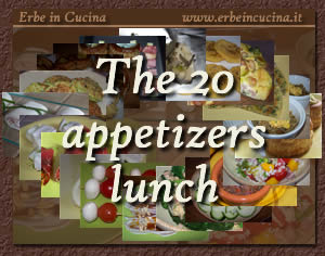 The 20 appetizers lunch